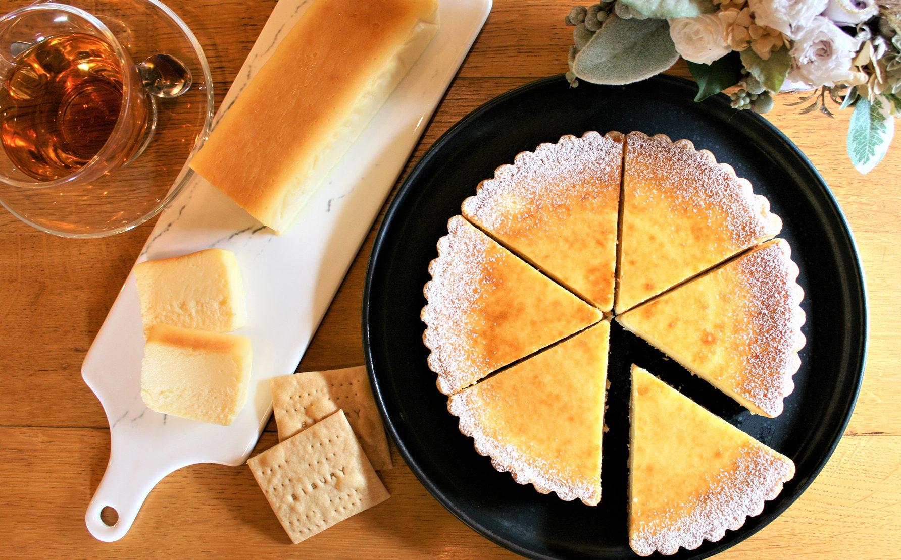 さわやかな酸味と上品な甘さが魅力といわれ、その旨味をビブリ独自の製法で閉じ込めじっくり焼き上げたチーズケーキです。